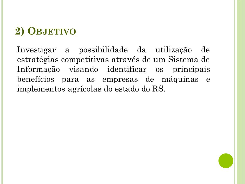 2) Objetivo