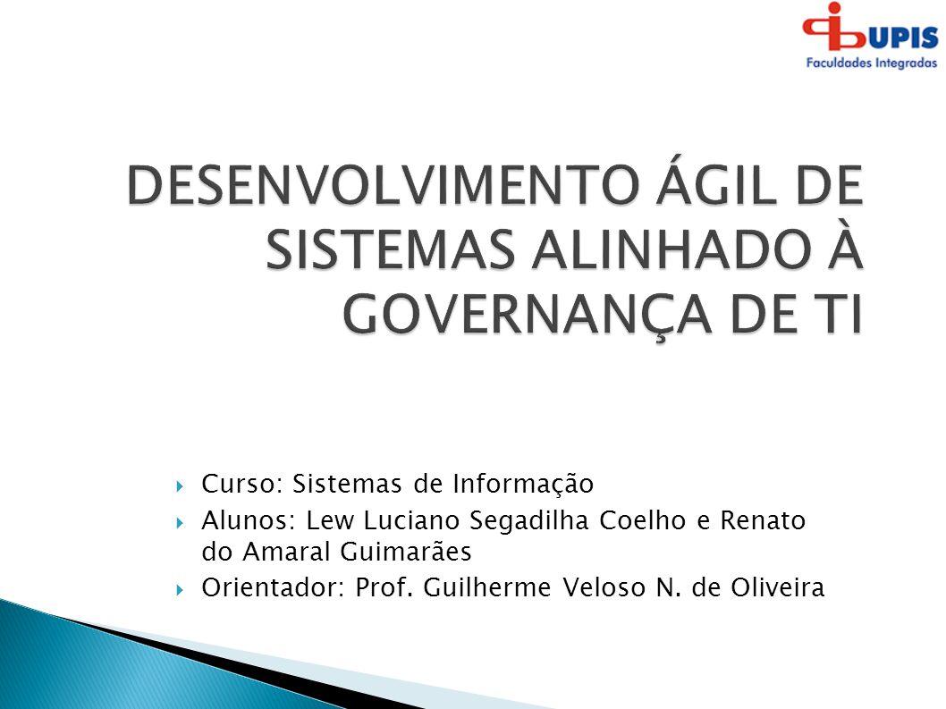 DESENVOLVIMENTO ÁGIL DE SISTEMAS ALINHADO À GOVERNANÇA DE TI