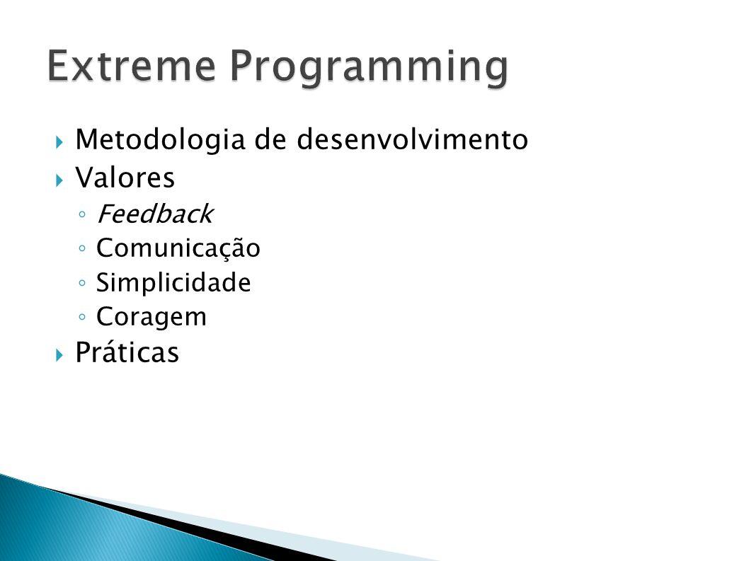 Extreme Programming Metodologia de desenvolvimento Valores Práticas