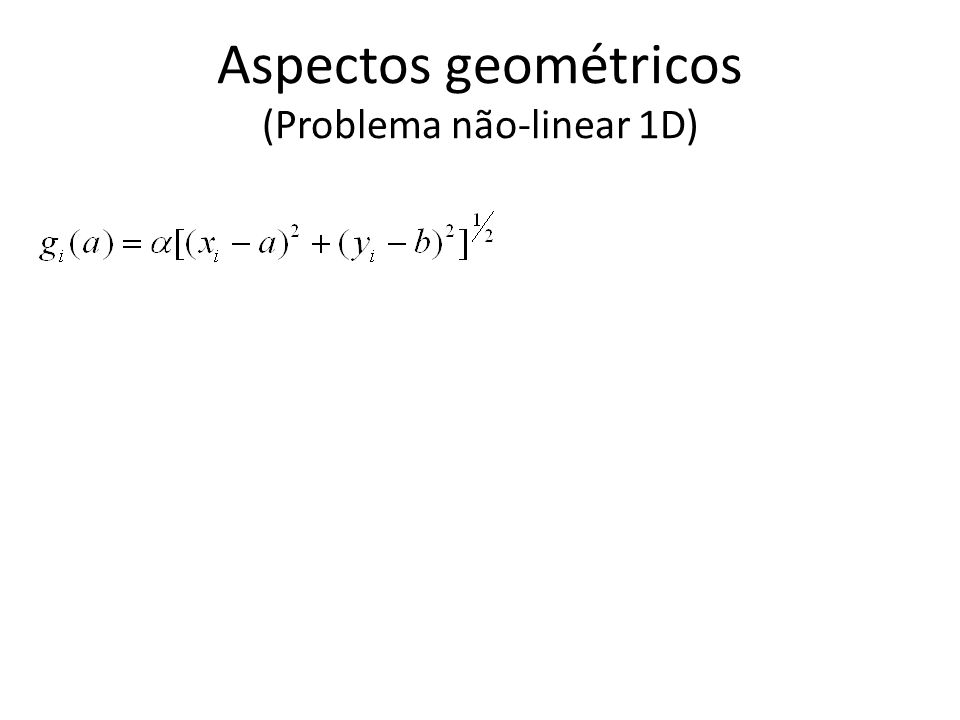 Aspectos geométricos (Problema não-linear 1D)