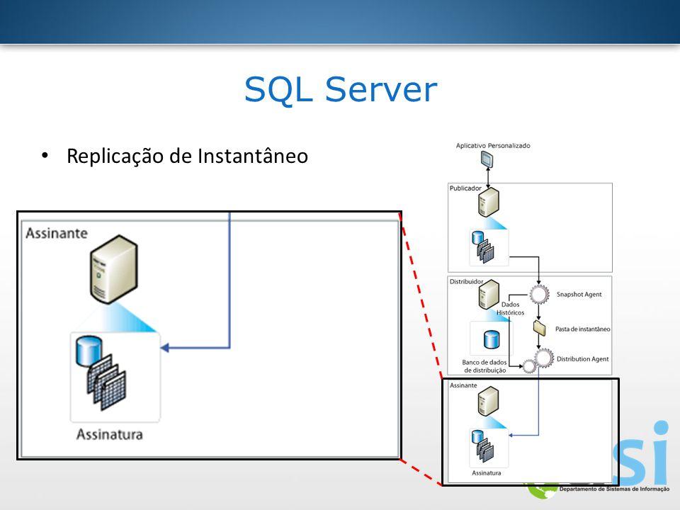 SQL Server Replicação de Instantâneo