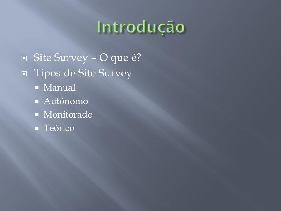 Introdução Site Survey – O que é Tipos de Site Survey Manual Autônomo