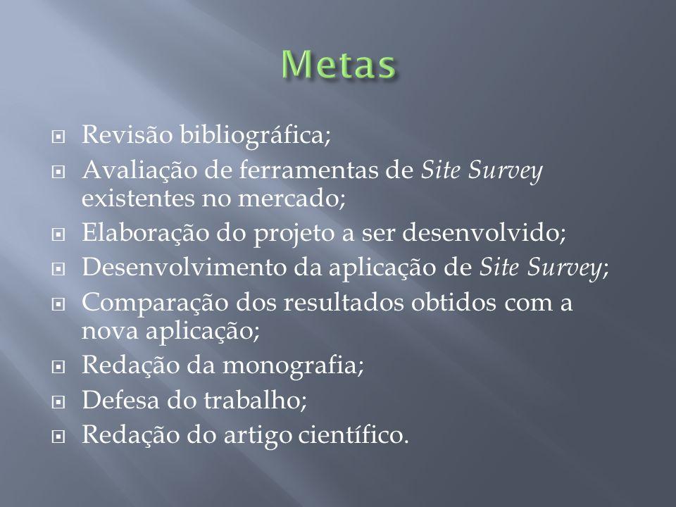 Metas Revisão bibliográfica;