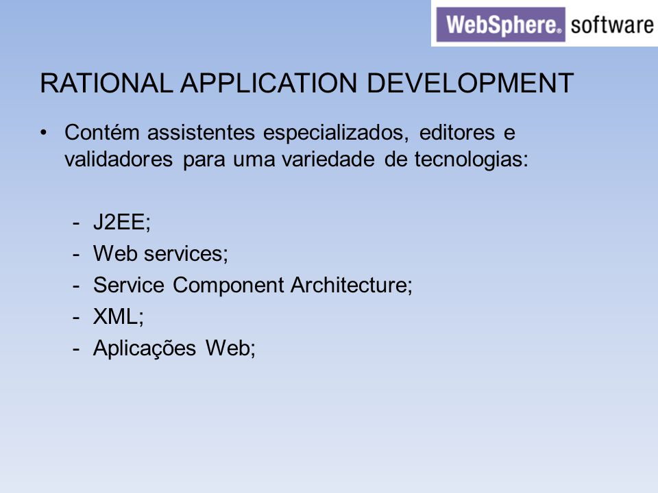 RATIONAL APPLICATION DEVELOPMENT