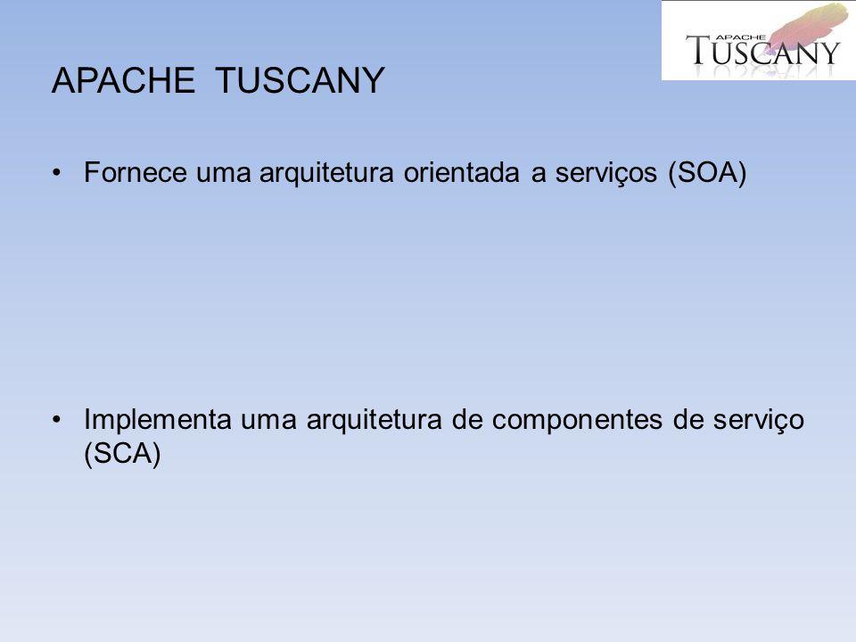 APACHE TUSCANY Fornece uma arquitetura orientada a serviços (SOA)