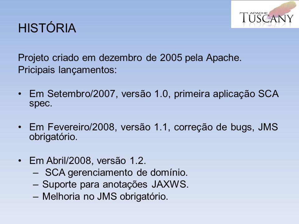 HISTÓRIA Projeto criado em dezembro de 2005 pela Apache.