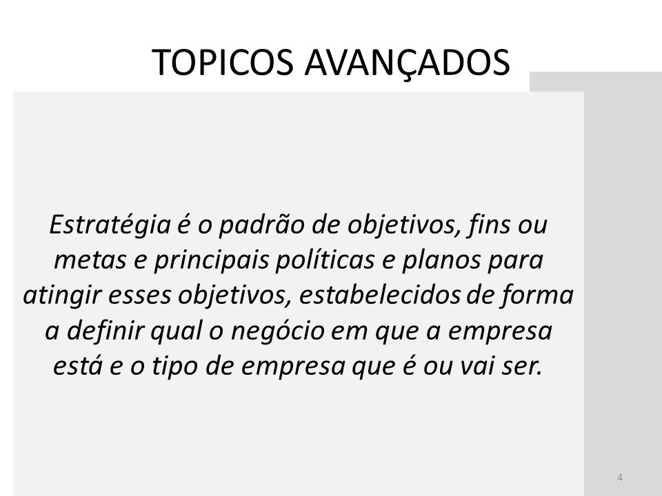 TOPICOS AVANÇADOS