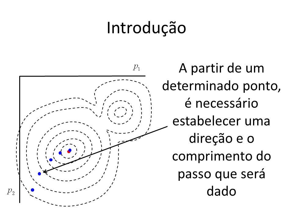 Introdução A partir de um determinado ponto, é necessário estabelecer uma direção e o comprimento do passo que será dado.