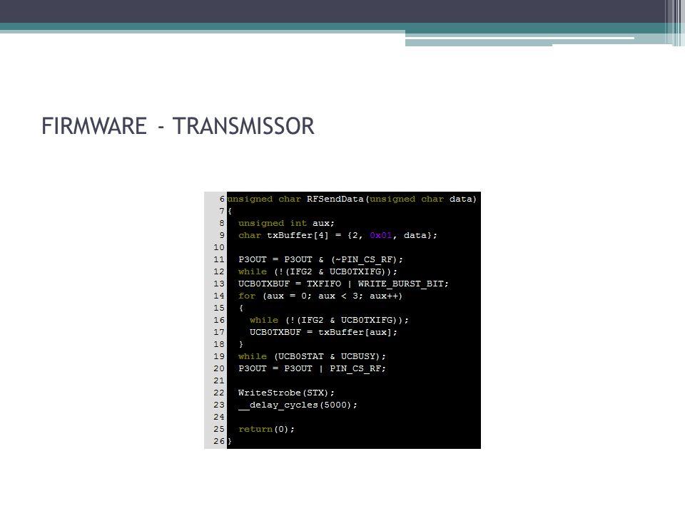 FIRMWARE - TRANSMISSOR