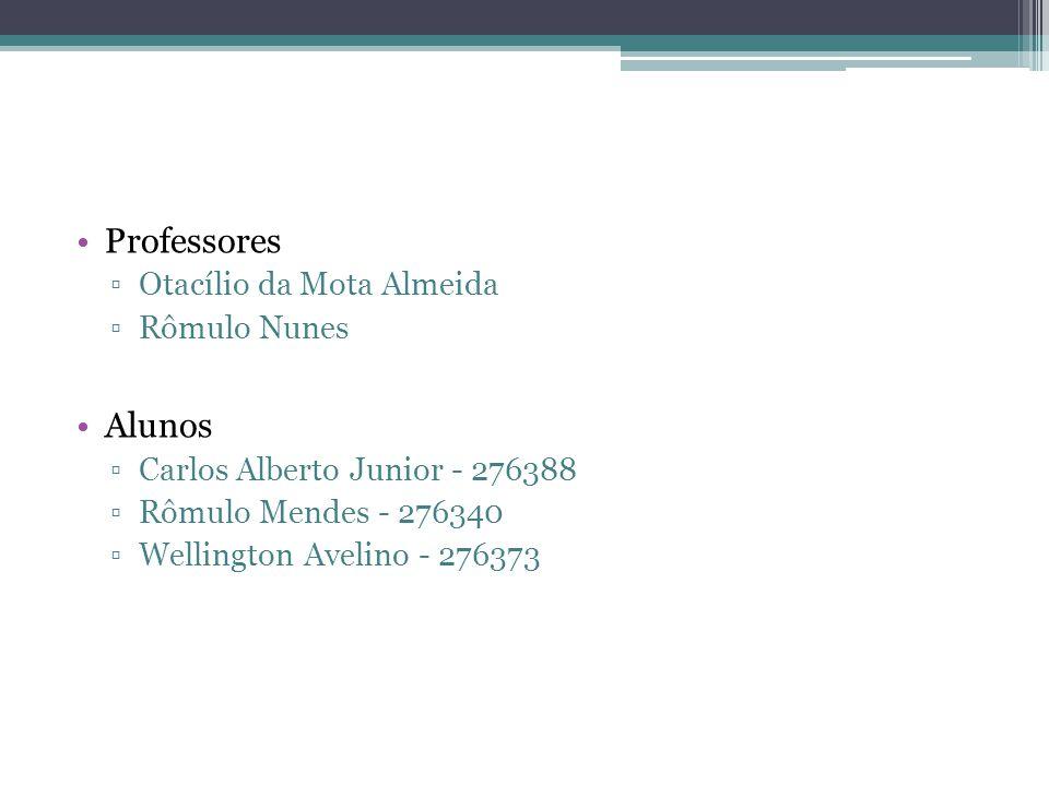 Professores Alunos Otacílio da Mota Almeida Rômulo Nunes