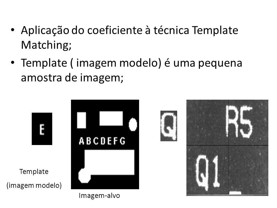 Aplicação do coeficiente à técnica Template Matching;