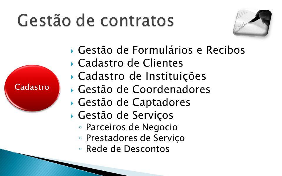 Gestão de contratos Cadastro de Instituições