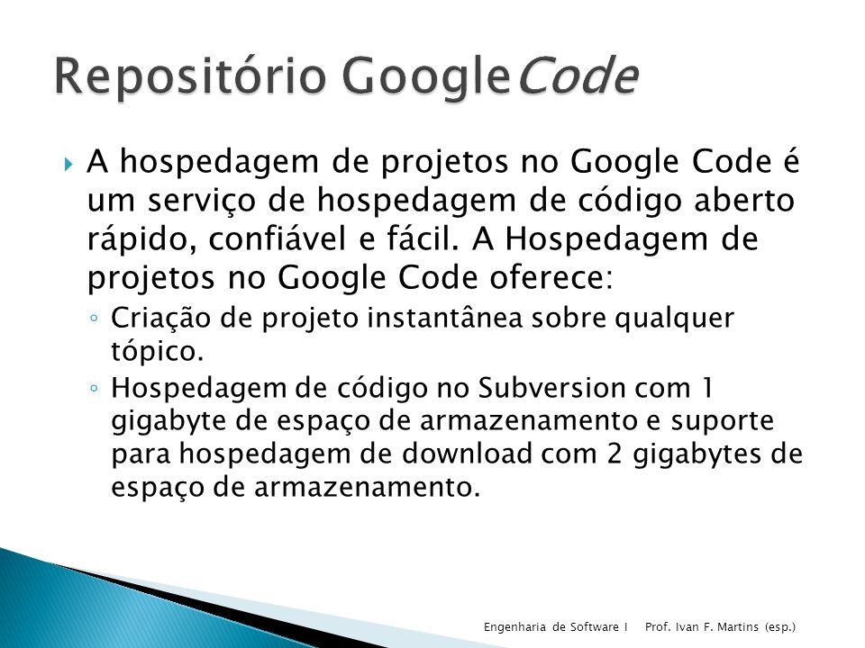 Repositório GoogleCode