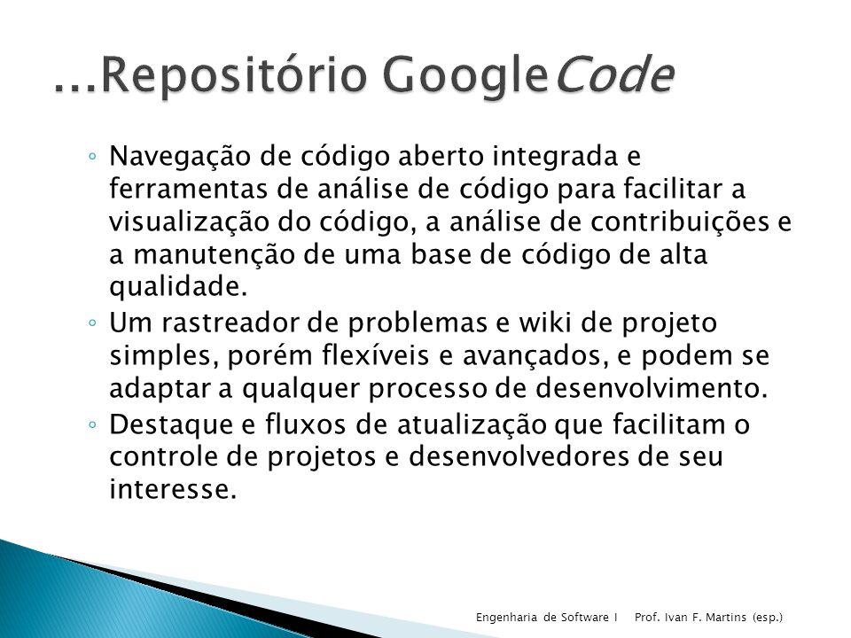 ...Repositório GoogleCode