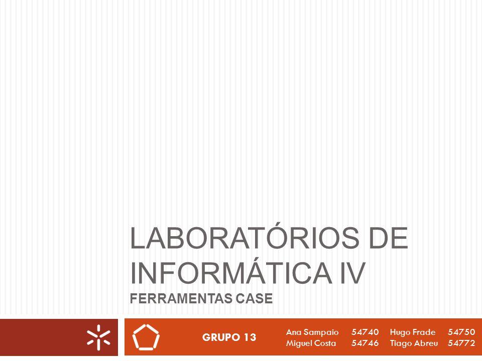 Laboratórios de Informática IV Ferramentas CASE