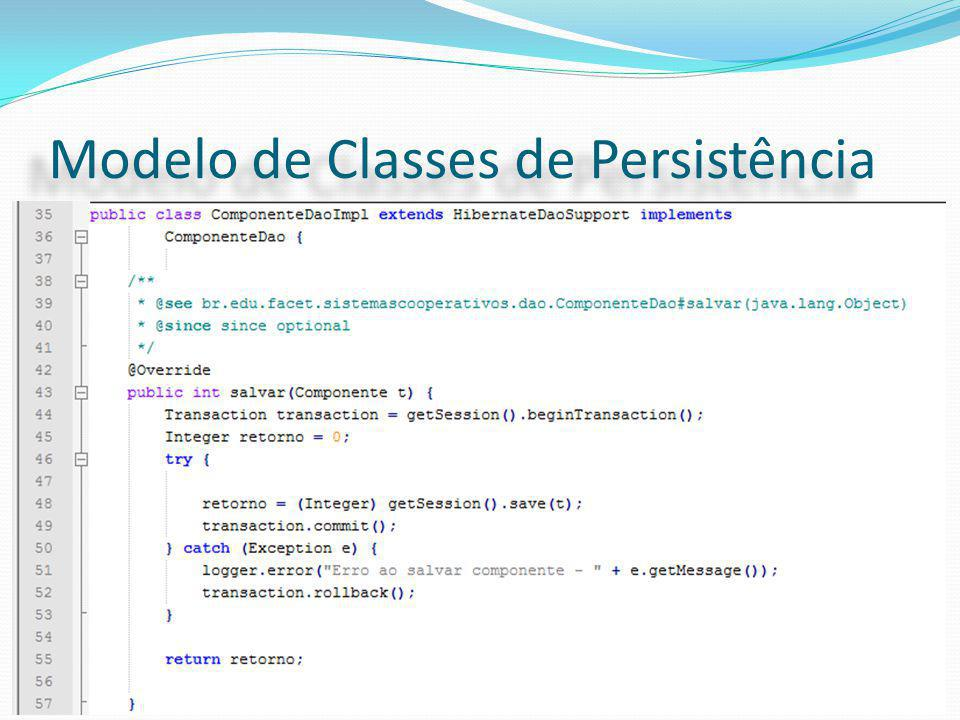 Modelo de Classes de Persistência