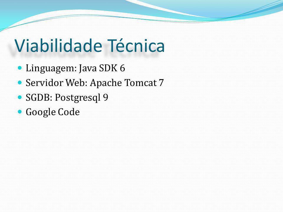 Viabilidade Técnica Linguagem: Java SDK 6
