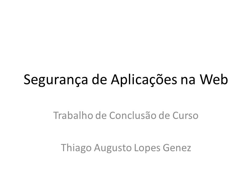Segurança de Aplicações na Web