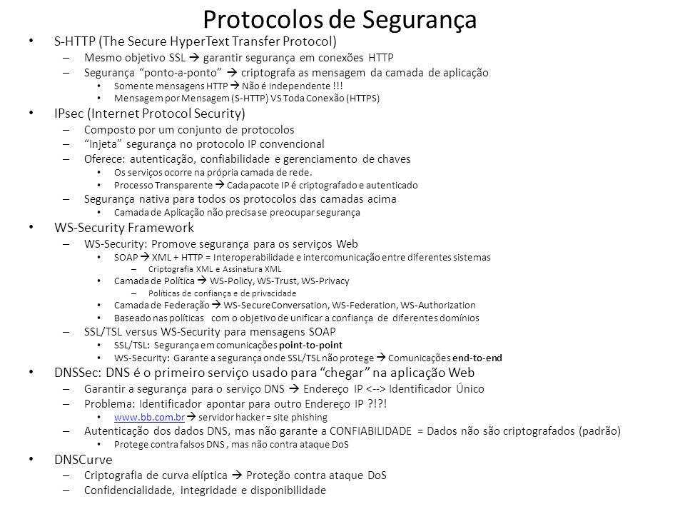 Protocolos de Segurança