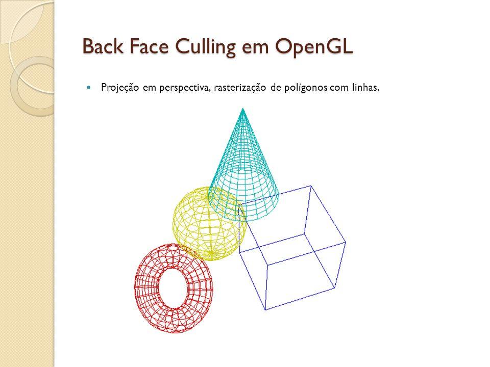 Back Face Culling em OpenGL
