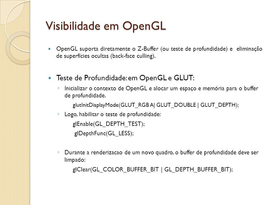 Visibilidade em OpenGL