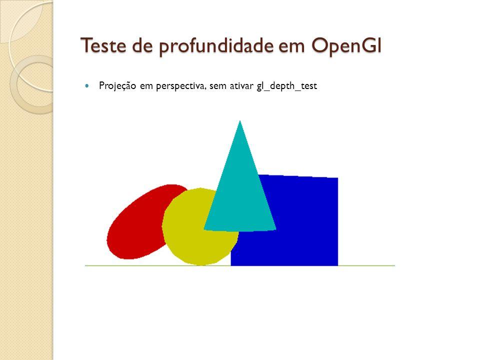 Teste de profundidade em OpenGl