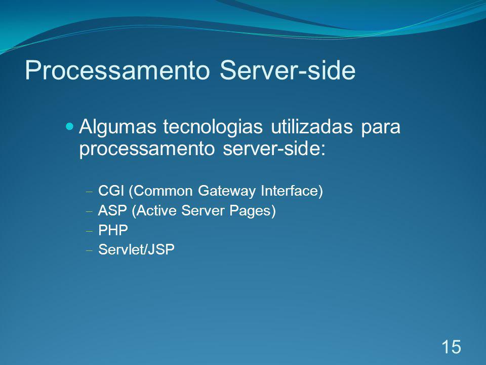 Processamento Server-side