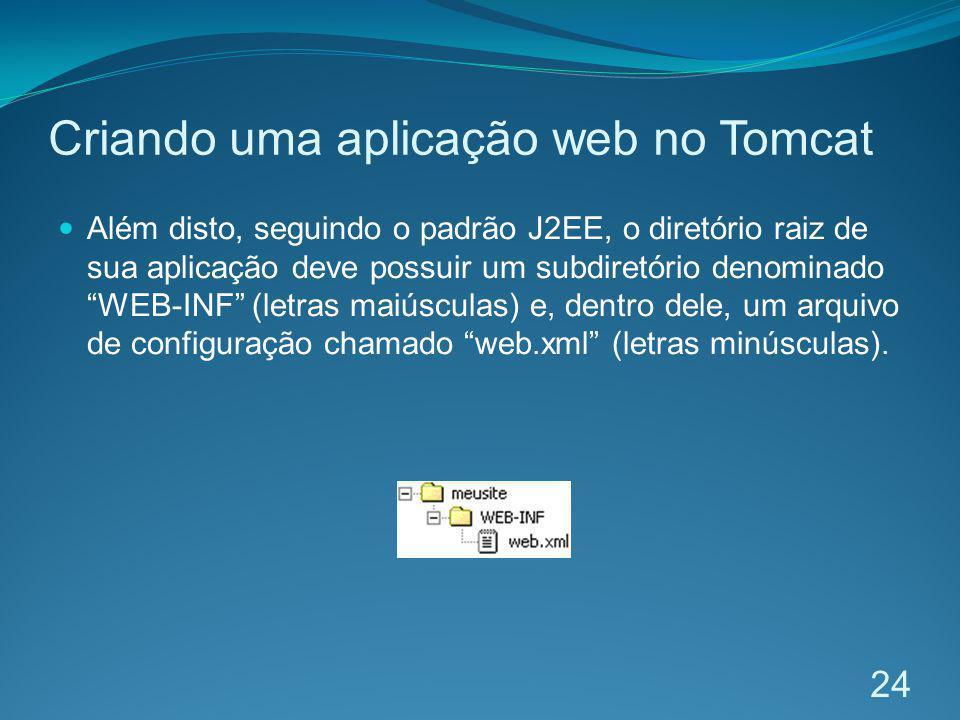 Criando uma aplicação web no Tomcat
