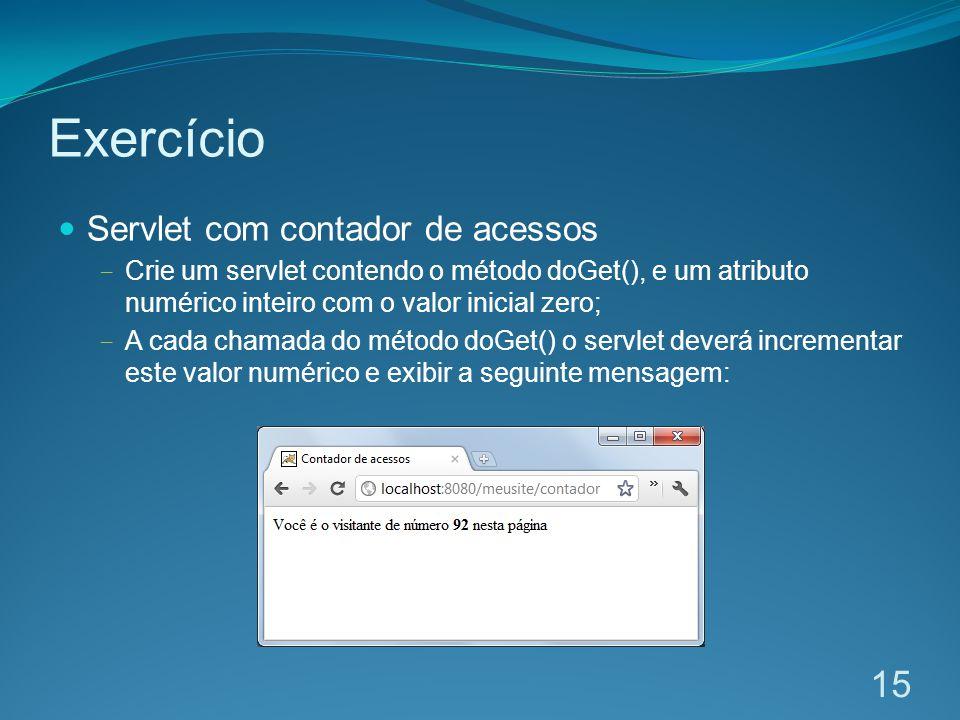 Exercício Servlet com contador de acessos