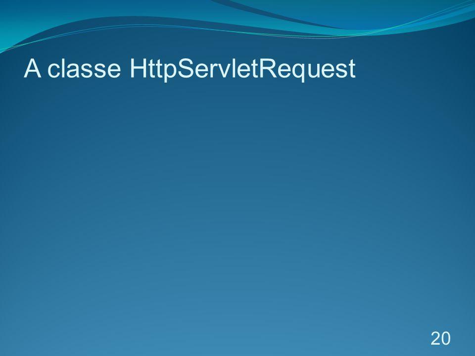 A classe HttpServletRequest
