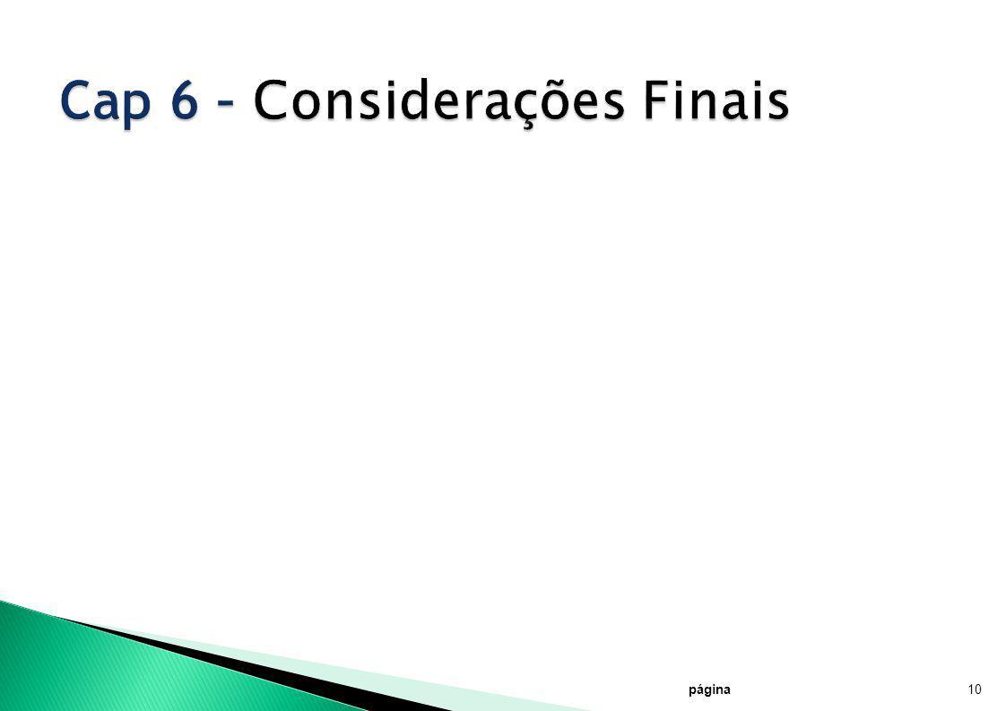 Cap 6 – Considerações Finais