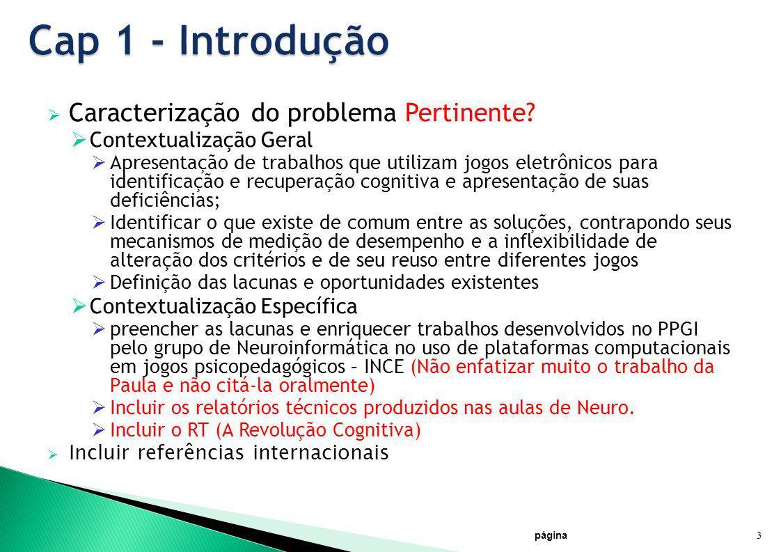 Cap 1 - Introdução Caracterização do problema Pertinente