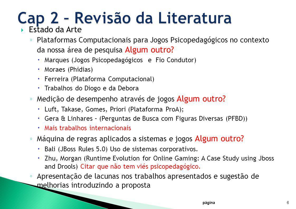 Cap 2 – Revisão da Literatura