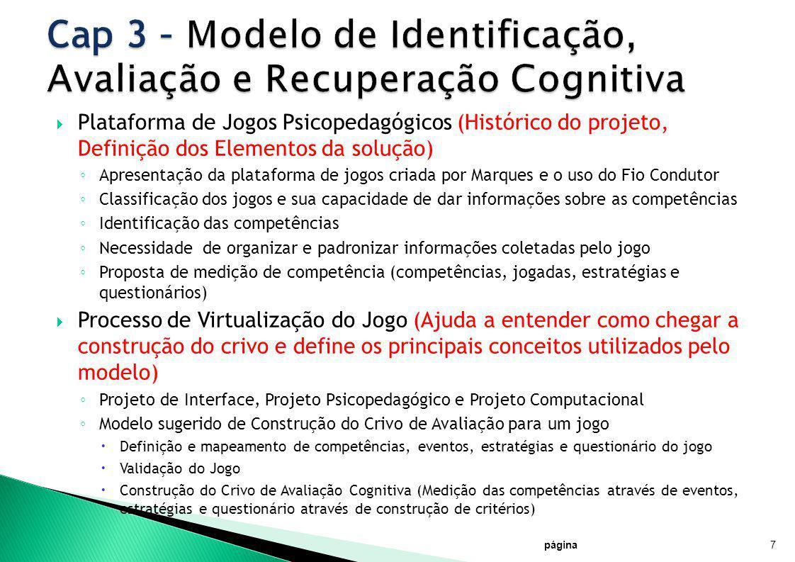 Cap 3 – Modelo de Identificação, Avaliação e Recuperação Cognitiva