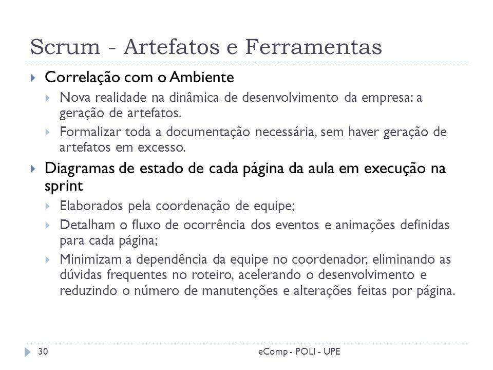 Scrum - Artefatos e Ferramentas
