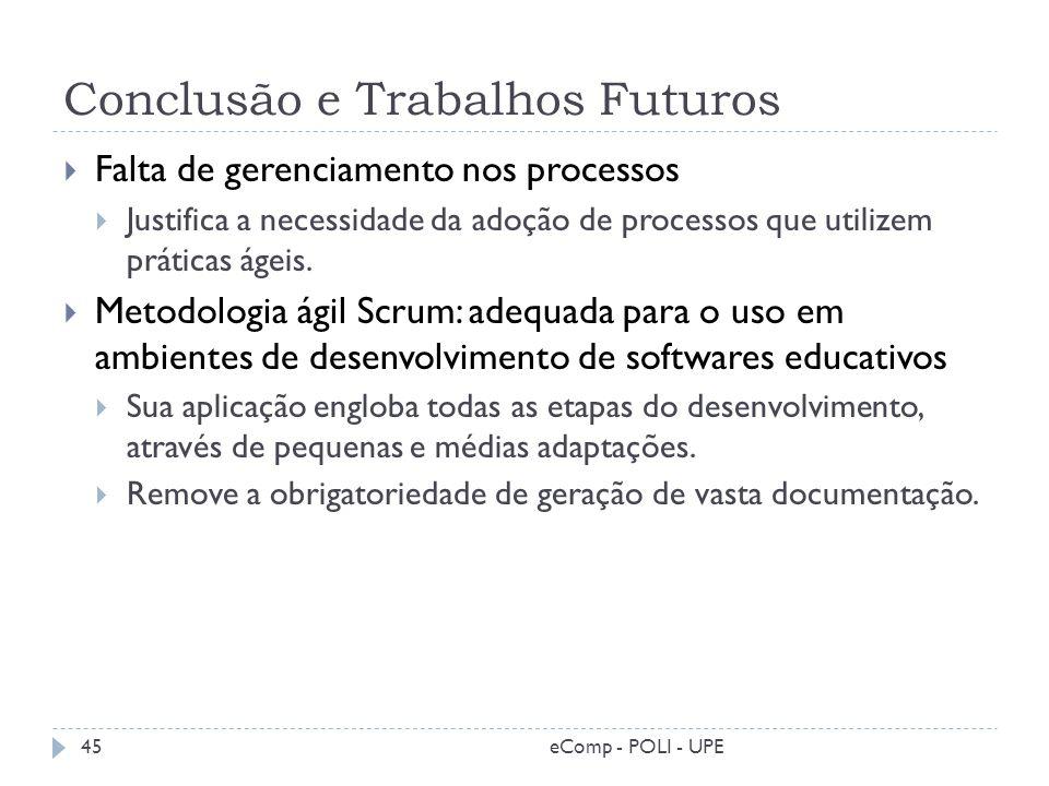 Conclusão e Trabalhos Futuros