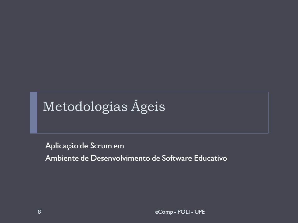 Metodologias Ágeis Aplicação de Scrum em