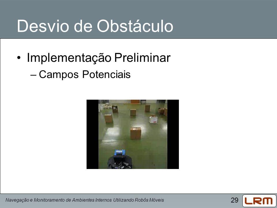 Desvio de Obstáculo Implementação Preliminar Campos Potenciais