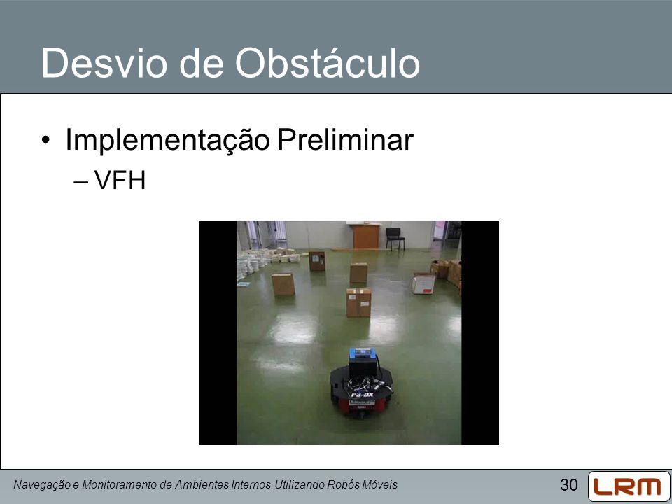 Desvio de Obstáculo Implementação Preliminar VFH
