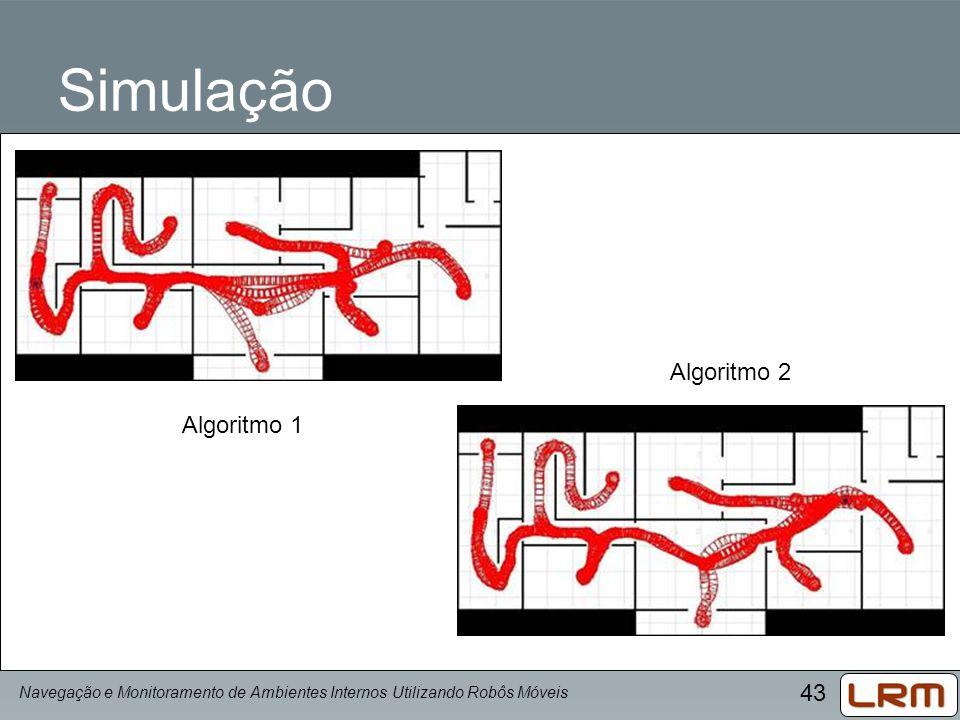 Simulação Algoritmo 2 Algoritmo 1