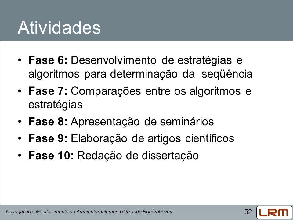 Atividades Fase 6: Desenvolvimento de estratégias e algoritmos para determinação da seqüência.