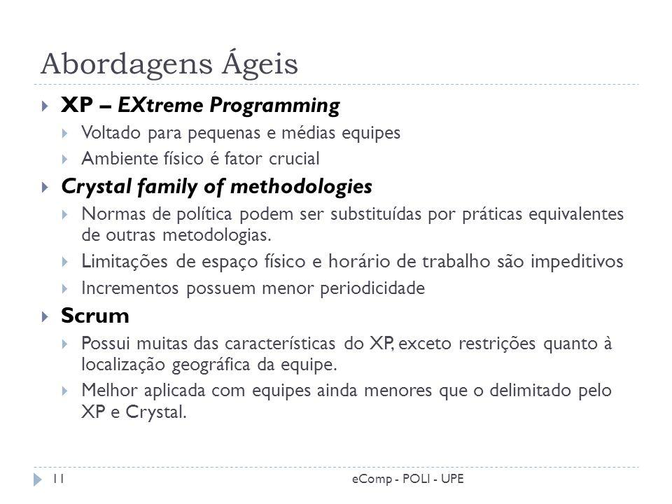 Abordagens Ágeis XP – EXtreme Programming