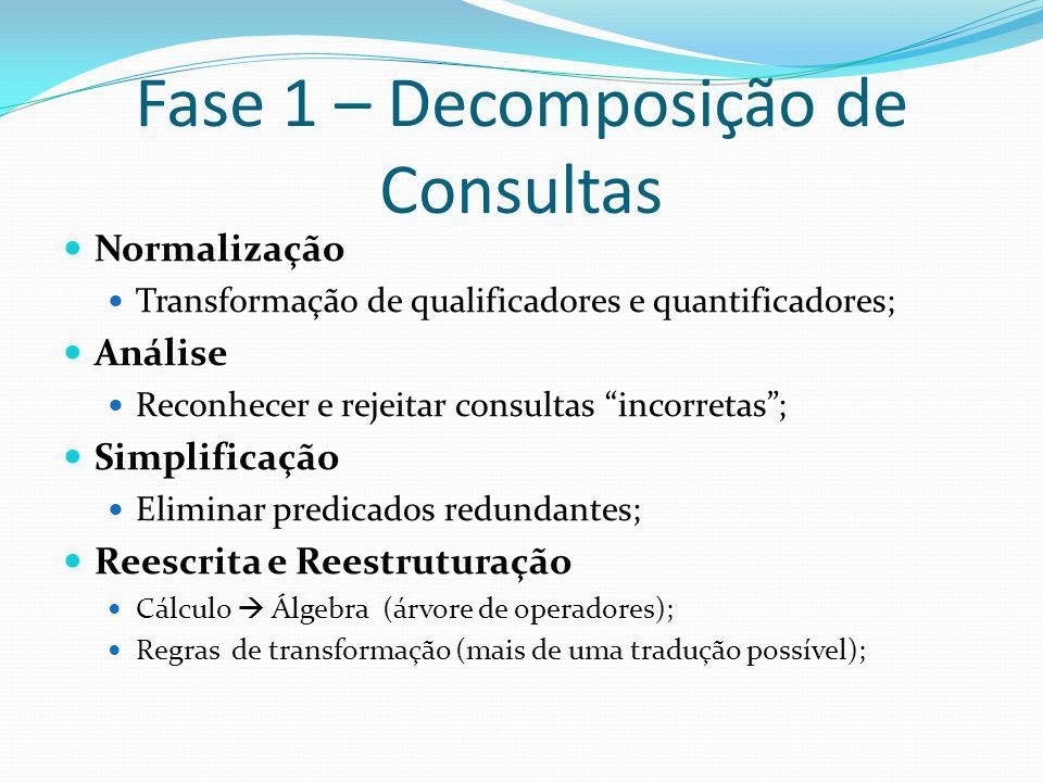Fase 1 – Decomposição de Consultas