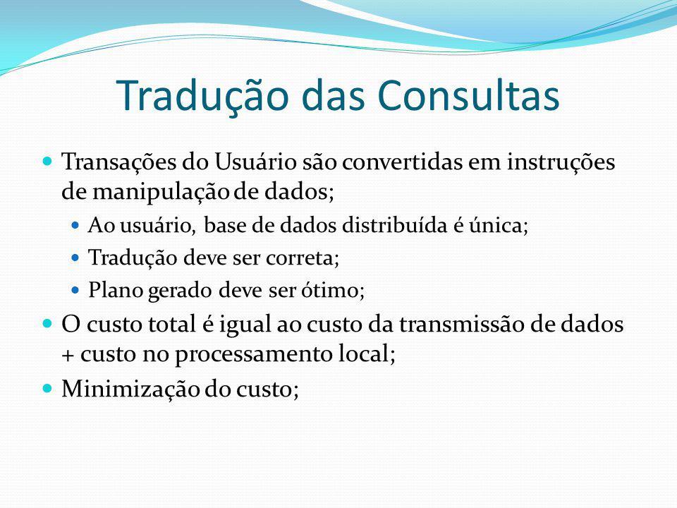 Tradução das Consultas
