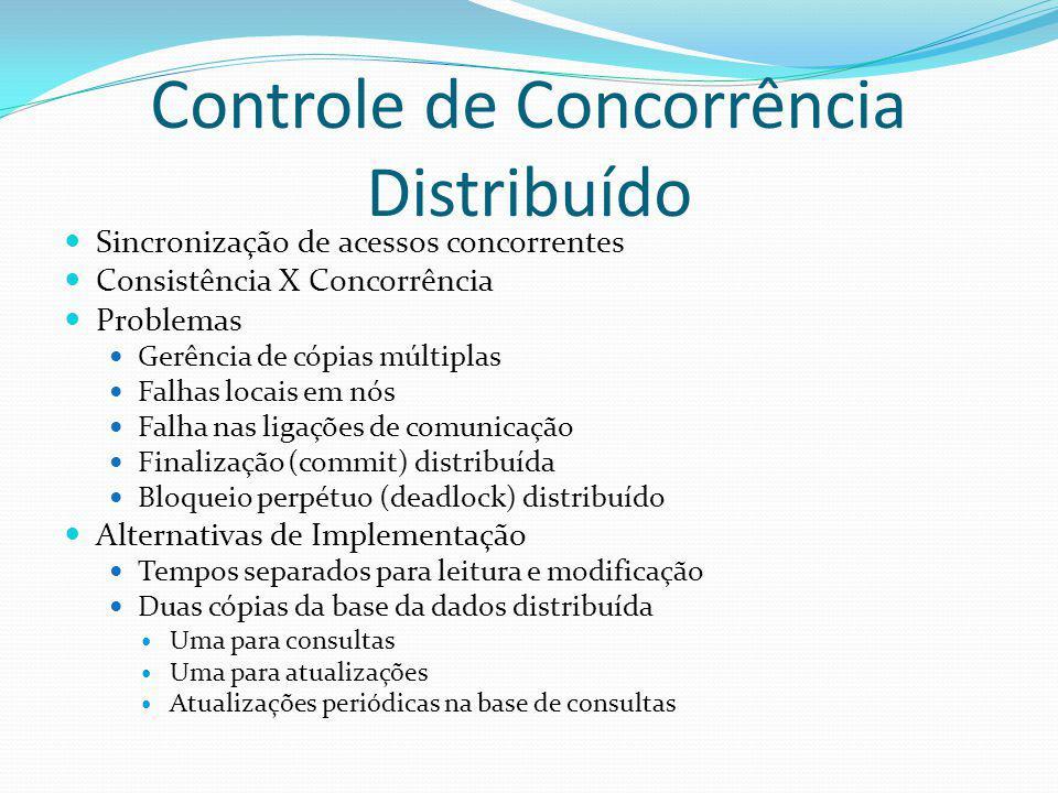 Controle de Concorrência Distribuído