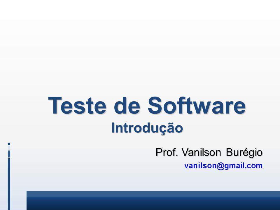 Teste de Software Introdução