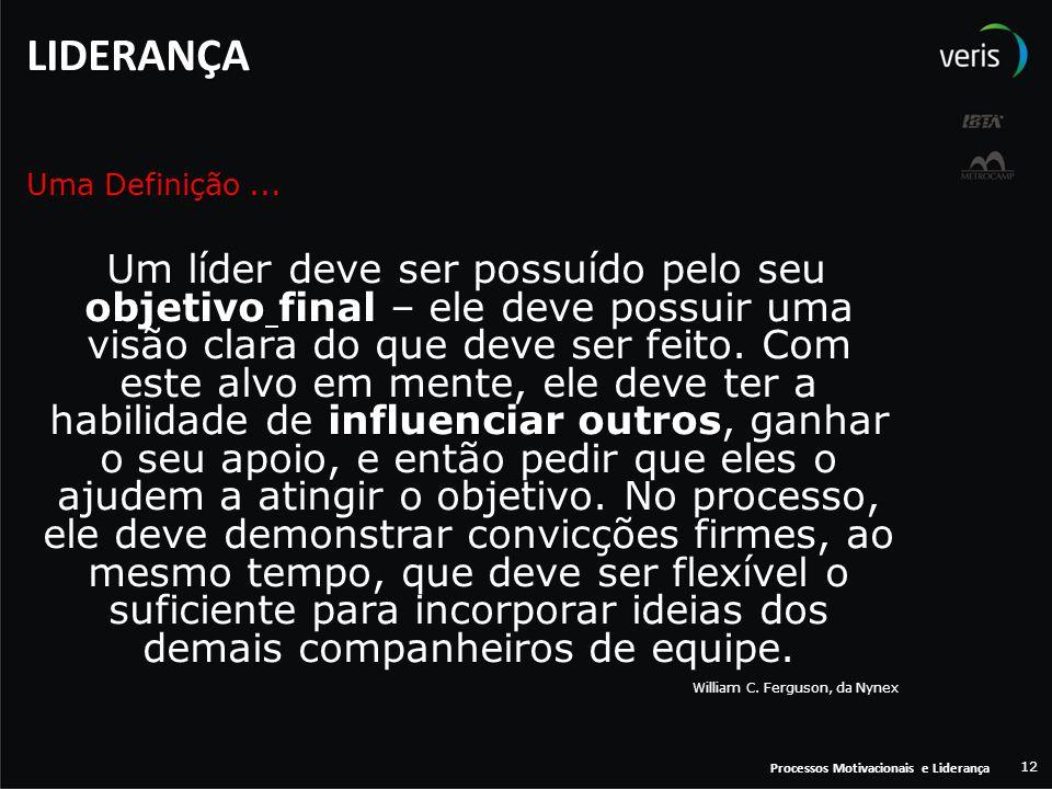 LIDERANÇA Uma Definição ...