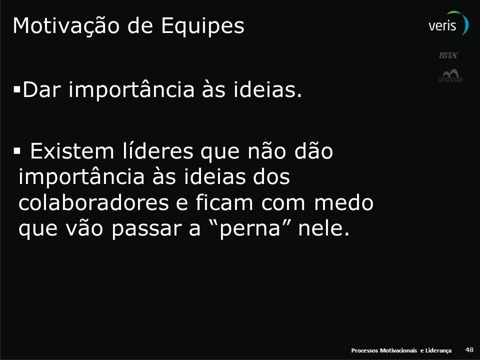 Dar importância às ideias.