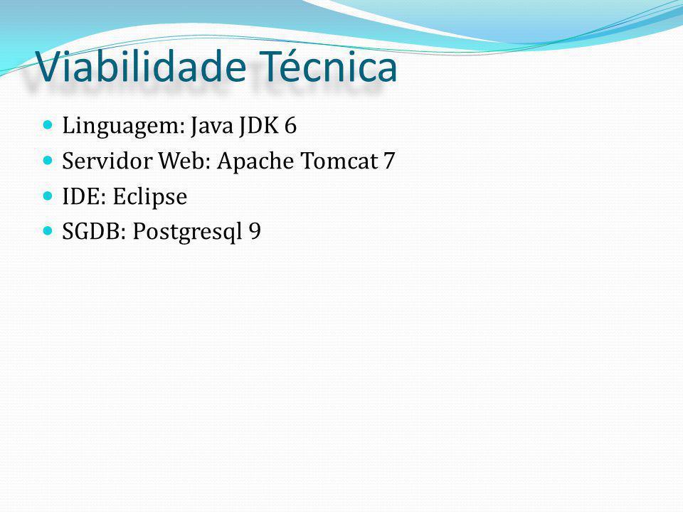 Viabilidade Técnica Linguagem: Java JDK 6