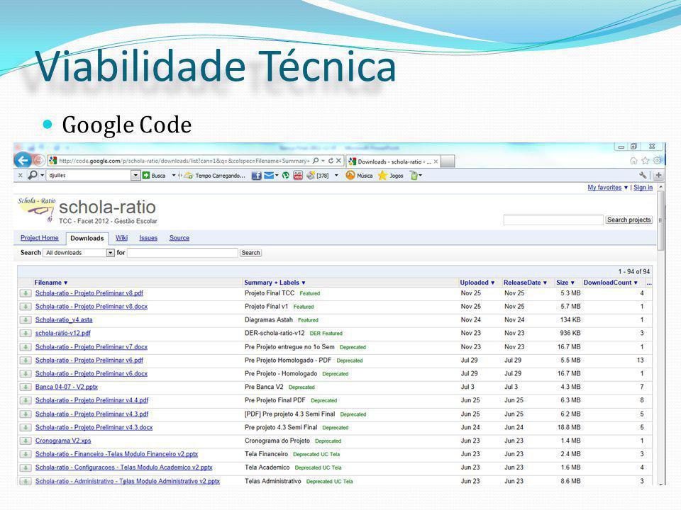 Viabilidade Técnica Google Code
